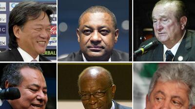 Eduardo Li,  Jeffrey Webb, Nicolás Leoz, Julio Rocha,Jack Warner,...