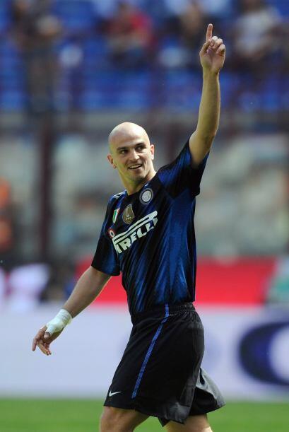 El agentino Esteban Cambiasso marcó el 2-0 al minuto 28, solo tres minut...