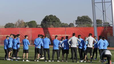 Así se vivió la práctica de Boca Juniors en Madrid, en la sede de la Selección Española
