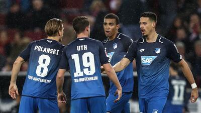 Con Salcedo los 90', Hoffenheim le robó el triunfo al Frankfurt