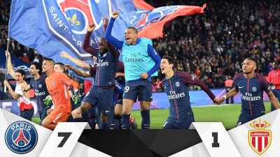 El PSG logra su séptimo título de Liga aplastando 7-1 al Mónaco