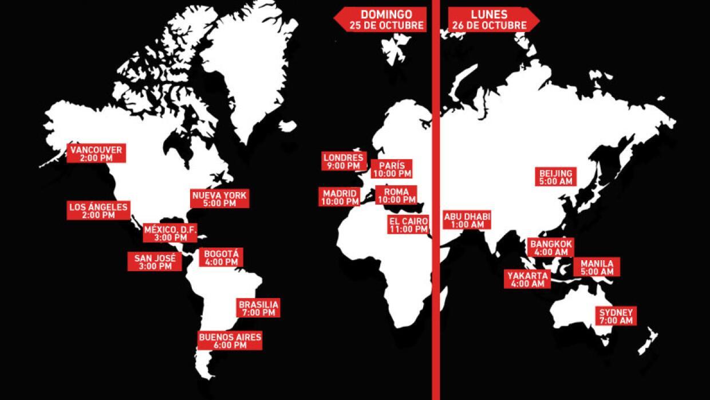 Horarios para #DecisionDay alrededor del mundo