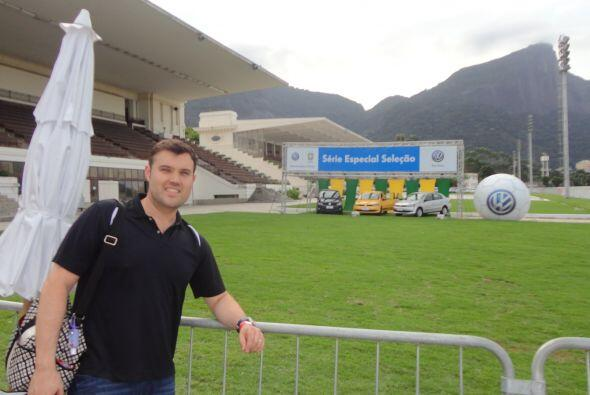 """Aquí Alberto en el """"Parque de la Bola"""" en el Jockey Club de Río de Janeiro."""