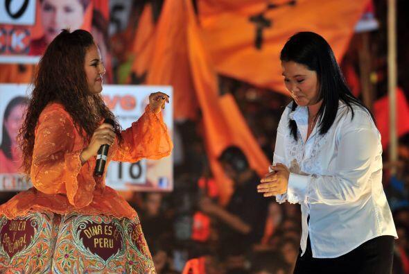 Keiko Fujimori, la hija del encarcelado ex presidente Alberto Fujimori,i...