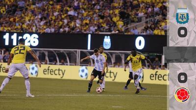 Argentina y Colombia no se hicieron daño en Nueva Jersey