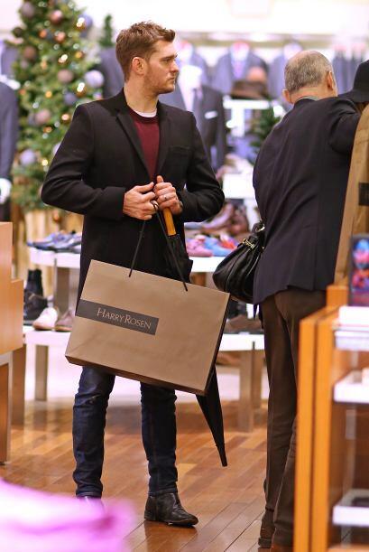 Michel Bublé en compras de navidad