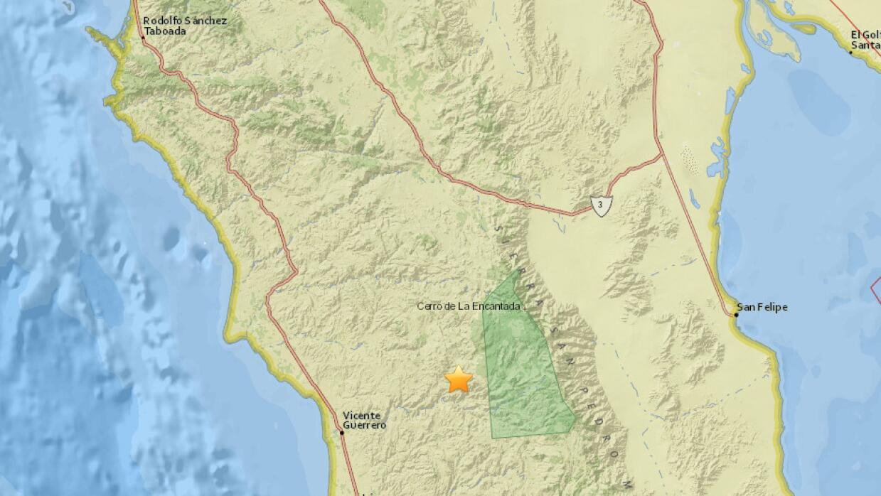 Un sismo de 4.4 grados se registró en Baja California, en una zona cerca...