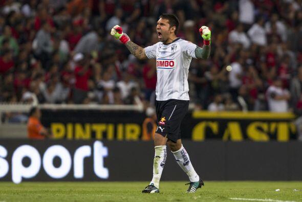 La anotación de Dorlan Pabón aumentó el ánimo de los jugadores de Rayado...