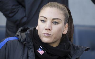 Hope Solo, portera del Seattle Reign FC y figura prominente del f&uacute...