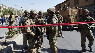 Tropas de la OTAN estacionadas en Afganistán.