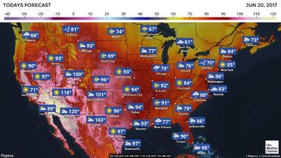 Las previsiones meteorológicas para esta semana en EEUU