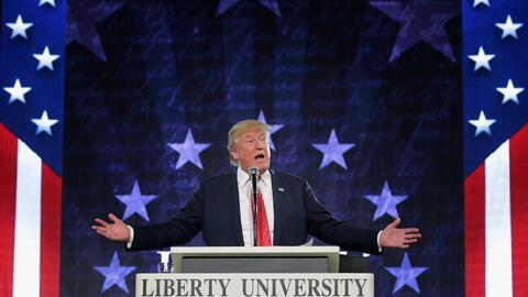 En enero Trump se equivoco al citar a la Biblia en Liberty University.