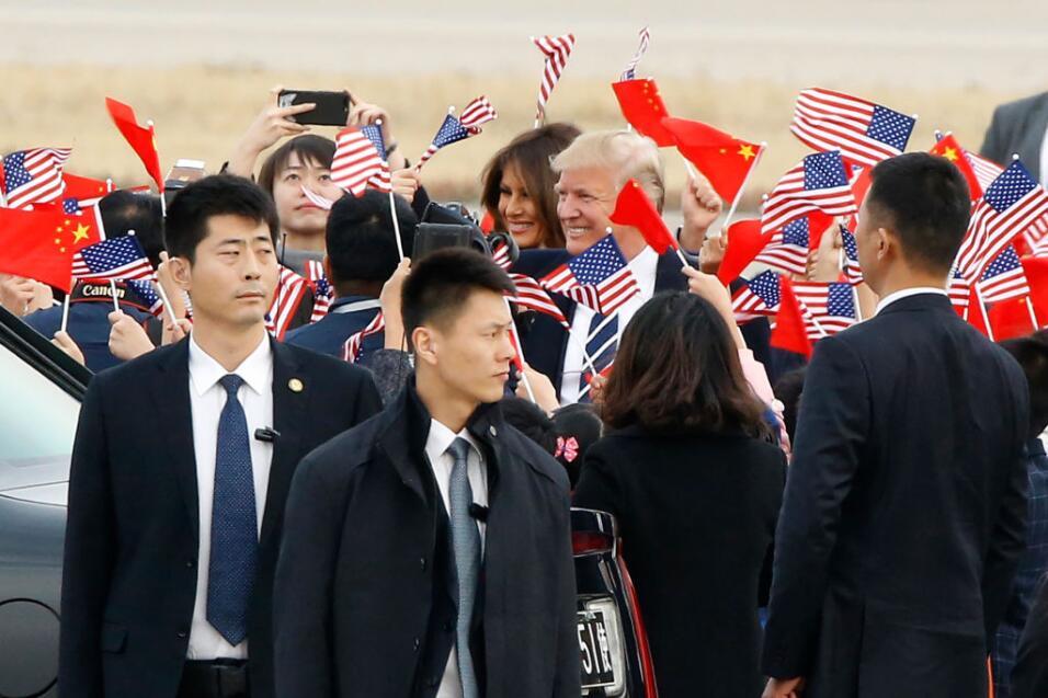 Trump llegó este miércoles a China, la etapa más de...