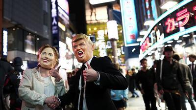Las presidenciales también se toman Halloween