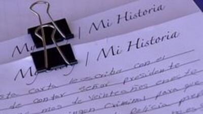 Una de las cartas que va hacia Washington