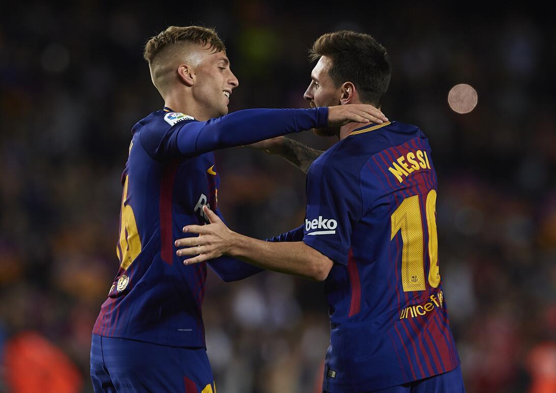 La racha llegó a doble digito cuando Barcelona goleó 5 - 0 al Español de...