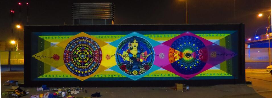 Muralistas chilenas se organizan para tomarse las calles 7877234334_063d...