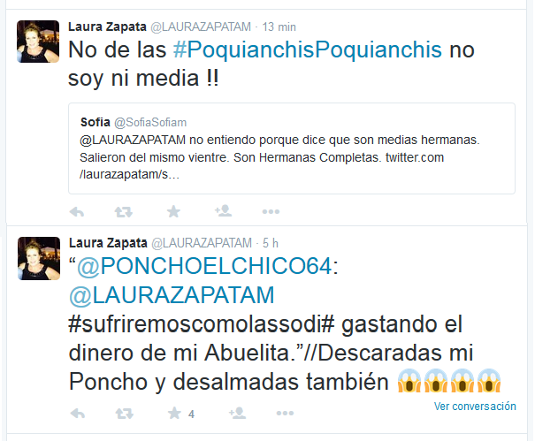 Laura Zapata explota contra sus hermanas