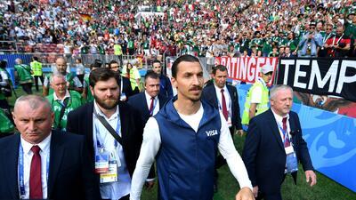 Hay un 'León' suelto en Rusia: Zlatan acompañó al Tri en el duelo ante Alemania en el Mundial