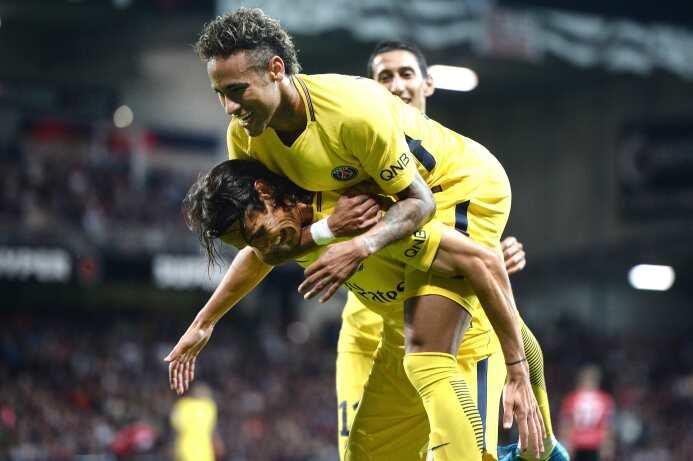 En su debut, Neymar a Cavani: 'Esta puede ser una linda amistad' GettyIm...