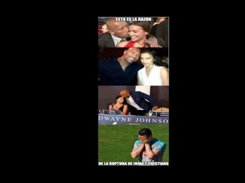 Memes del rompimiento de Cristiano e Irina