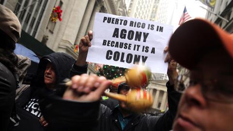 Mitin en Wall Street contra la deuda de Puerto Rico (foto de archivo)