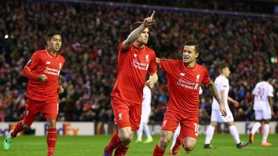 James Milner anotó el gol de la victoria para el Liverpool