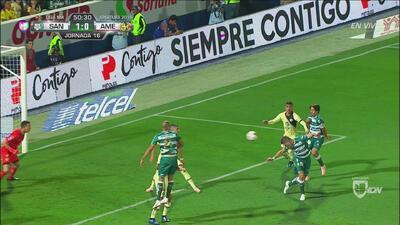 Julio Furch se sacó la espina y puso el 1-0 para Santos