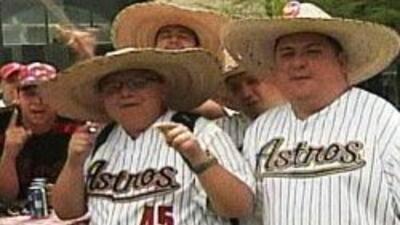 .Astros abren temporada numero 45. Equipo de beisbol de Houston en accio...