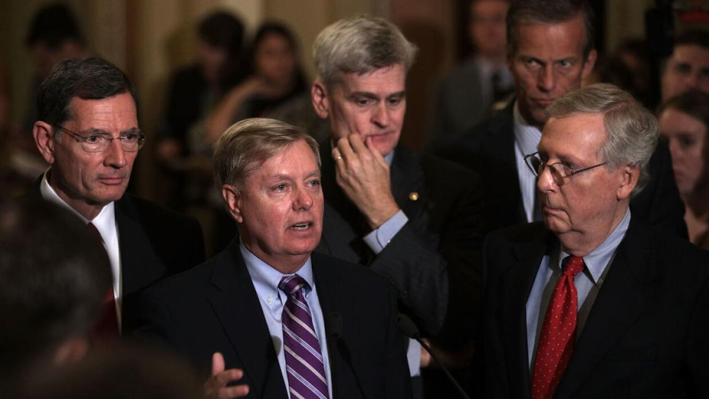 El senador Lindsey Graham ofreció una conferencia este martes al...
