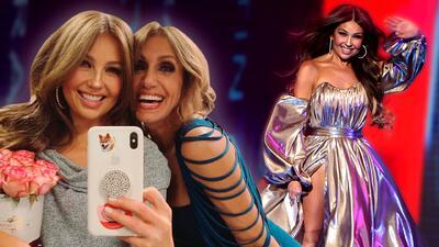 Lili se vistió como Thalía tras la entrega de Latin GRAMMY: son como hermanas