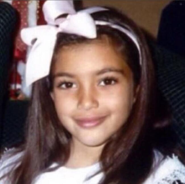 Kim Kardashian de niña
