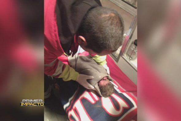 """Quienes lo rescataron lo llaman """"el bebé milagro""""."""