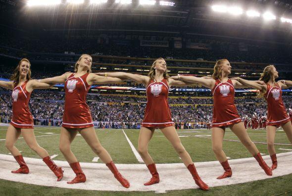Las cheerleaders de la Universidad de Indiana dieron un pequeño espectác...