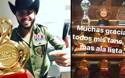 Gerardo Ortiz celebra el tener 11 preseas de Premio Lo Nuestro.