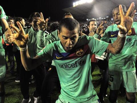 Obviamente, Alves mostraba sus raíces brasileñas con algun...