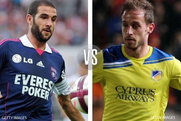Después tenemos el duelo entre el Lyon francés y el APOEL...