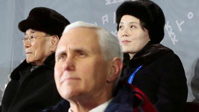 Fotos: Los esfuerzos de Mike Pence y la hermana de Kim Jong por ignorarse mutuamente en Corea del Sur