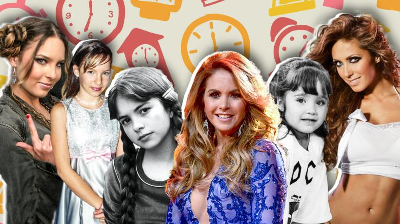 Estrellas infantiles famosas Lucero; Thalía, Paulina Rubio, Anahí, Belinda