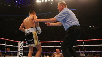 Quigg acabó con Martínez en dos rounds.