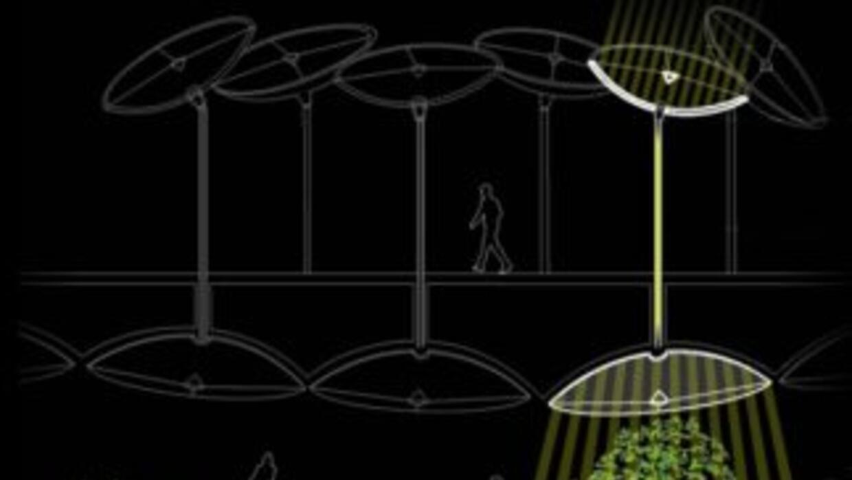 Sistema para llevar los rayos solares bajo tierra.