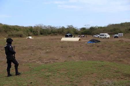 Excavación en fosa clandestina de Veracruz