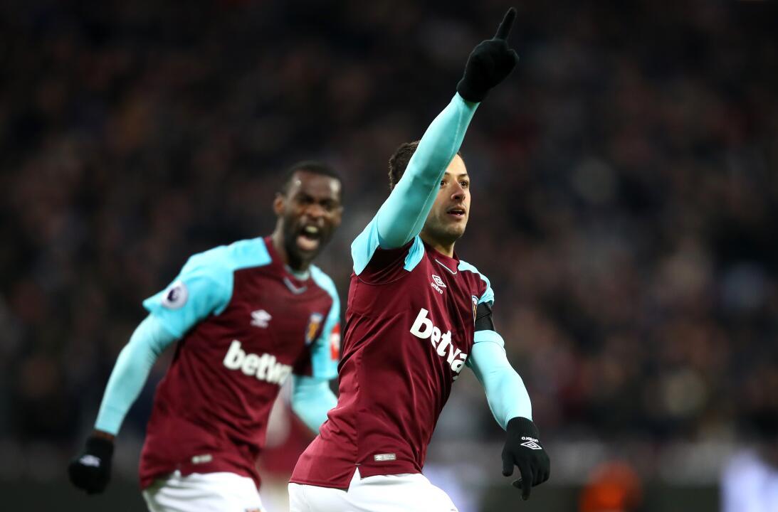 Sábado 27 de enero - Wigan Vs. West Ham: luego de anotar en la pasada jo...