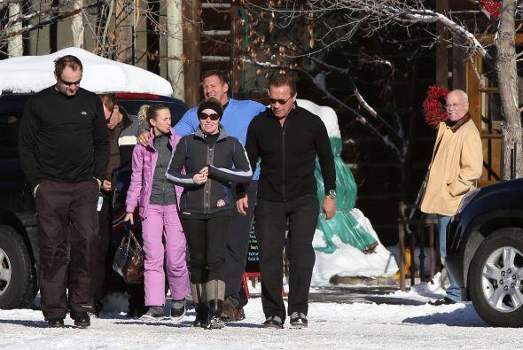 Schwarzenegger estuvo en el centro de ski y pasó un tiempo en familia co...