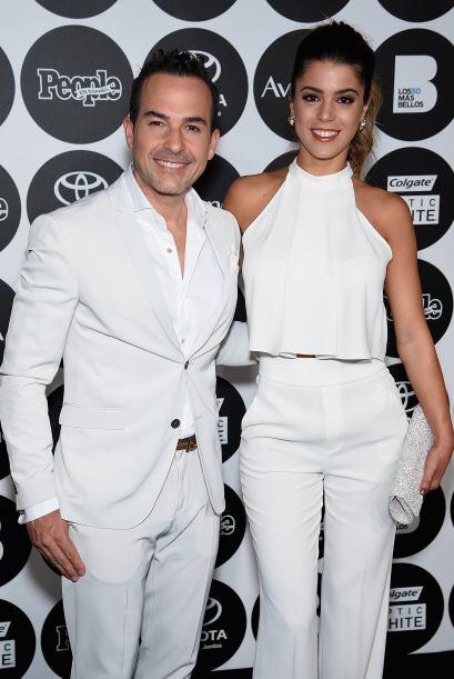 Carlos con Nicole Herrera