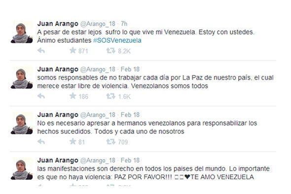 Cuatro Twitts seguidos de 'Arangol' clamaron por el derecho de los estud...