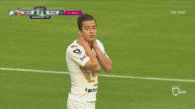 ¡De zurda! Alan Mozo pone muy cerca del gol a Pumas