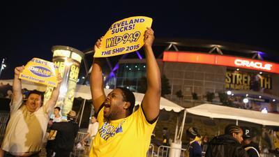 Oakland celebra la Victoria de los Warriors