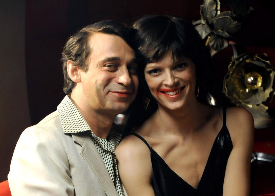 Junto al actor Jordi Molla, en Chango Discotheque, mientras promovían &#...
