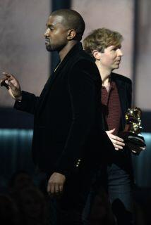 Kanye West quizo increpar a Beck durante la pasada entrega de los GRAMMY.